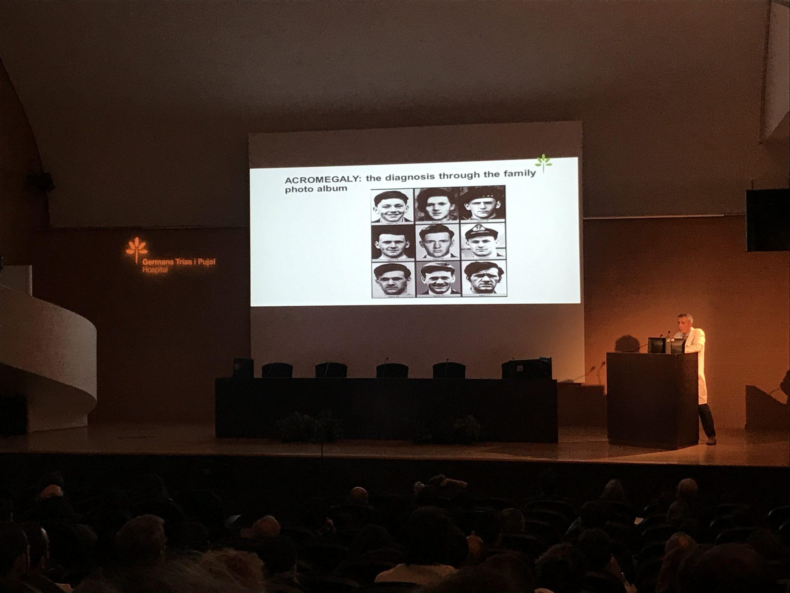 Manel Puig, director del Institut Germans Trias, en su presentación sobre IA y Acromegalia