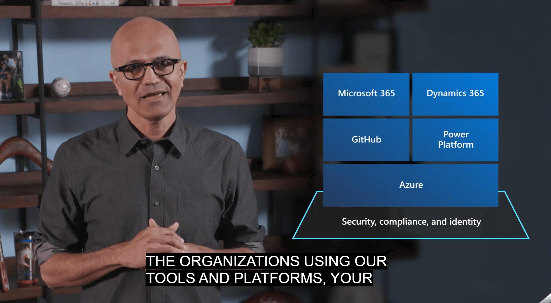 Satya Nadella en su intervención en la Keynote 2 del Microsoft Inspire 2020