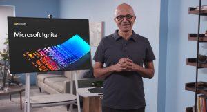 Satya Nadella, CEO de Microsoft, en la presentación del Microsoft Ignite 2020