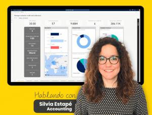Imagen de nuestra compañera Silvia, del departamento de Accounting de Algoritmia, que nos explica las ventajas de Dynamics 365 Finance para las empresas